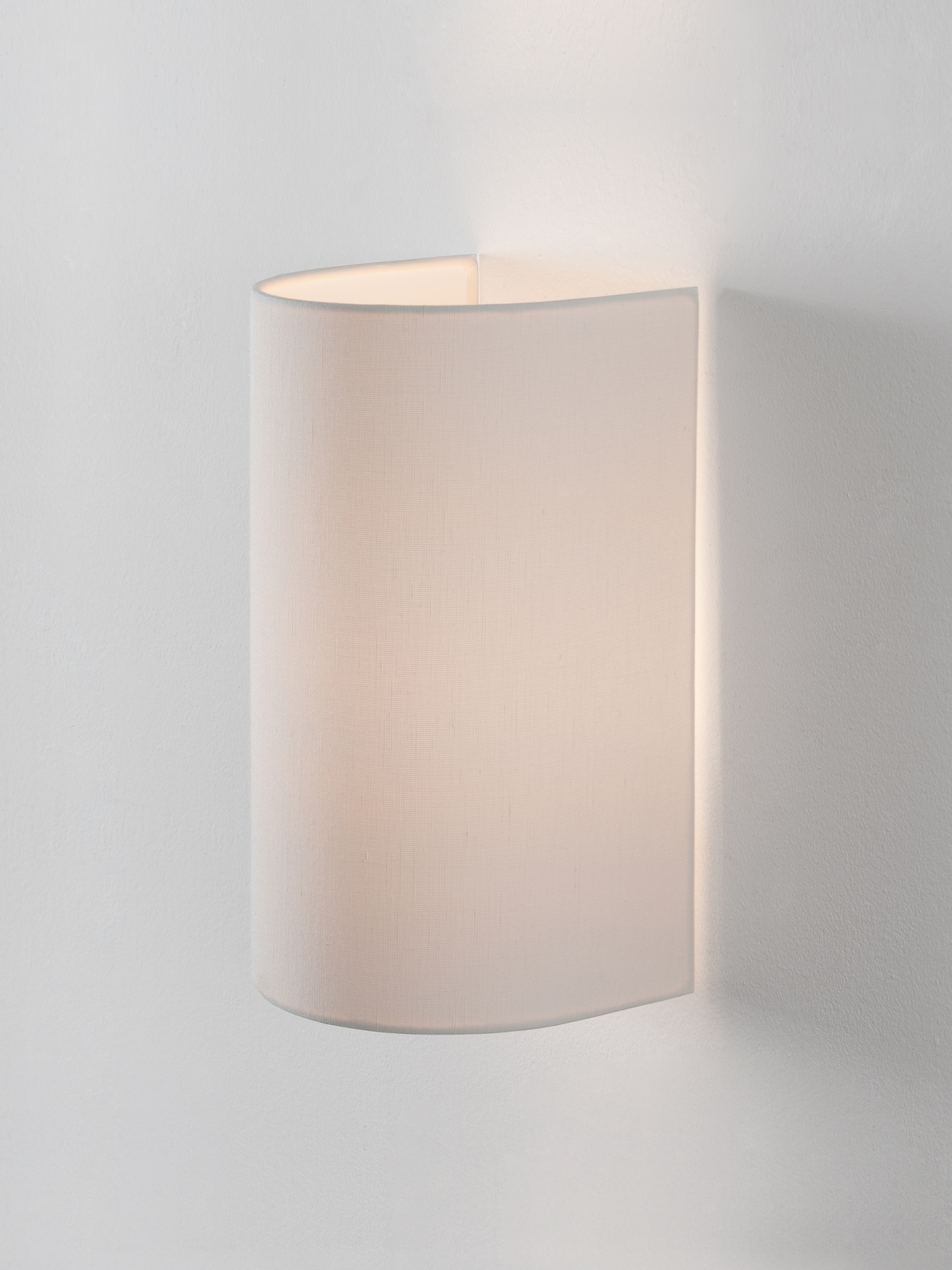 White linen lampshade