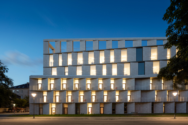 Projects rigshospitalet patient hotel copenaghen for Hotel design genes